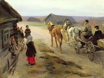 Arrival of a School-Mistress in the Country by Alexei Steipanovitch Stepanov