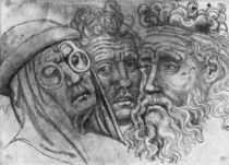 Heads of three men, from the The Vallardi Album von Antonio Pisanello