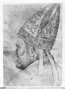 Head of a bishop, from the The Vallardi Album von Antonio Pisanello