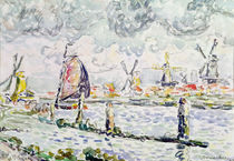Overschie, 1906 by Paul Signac