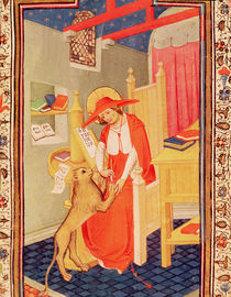Fol.310v St. Jerome, from the Book of Hours of Don Duarte by Flemish School