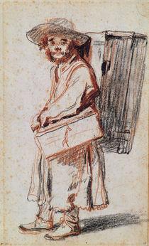 Study of a Pedlar from the Auvergne von Jean Antoine Watteau