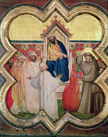 The Trial by Fire, St. Francis offers to walk through fire by Taddeo Gaddi