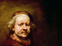 Self Portrait in at the Age of 63 von Rembrandt Harmenszoon van Rijn