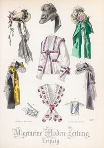 Fashion plate from the 'Allgemeine Moden-Zeitung' by French School
