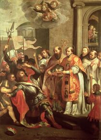 St. Bernard of Clairvaux and William X Duke of Aquitaine by Martin Pepyn or Pepin