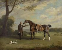 The Earl of Shrewsbury's Groom Holding a Hunter by Henry Bernard Chalon