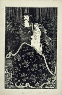 A large Christmas Card, 1895 by Aubrey Beardsley