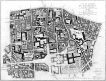 Map of Sainte-Genevieve area by Jean de La Grive