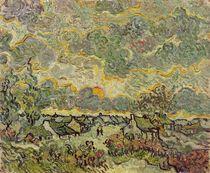 Autumn landscape, 1890 by Vincent Van Gogh