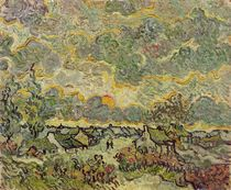 Autumn landscape, 1890 von Vincent Van Gogh
