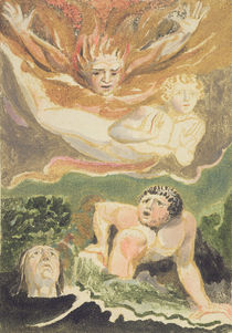 Four naked men emerging from their elements by William Blake