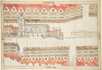 Map of Cheapside, London, 1585 by Ralph Treswell
