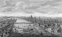 A General View of the City of London next to the River Thames by English School