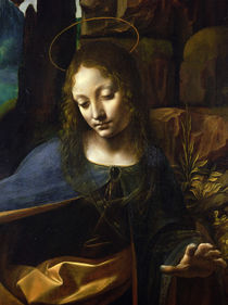 Detail of the Head of the Virgin by Leonardo Da Vinci