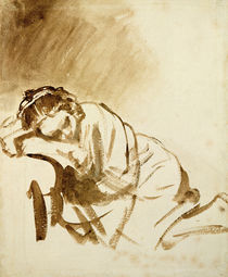 A Young Woman Sleeping c.1654 by Rembrandt Harmenszoon van Rijn