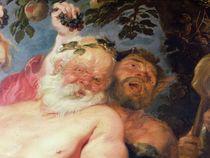 Drunken Silenus Supported by Satyrs von Peter Paul Rubens