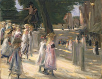 The Road to the school at Edam von Max Liebermann