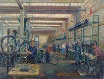 The Moscow Cycle Works, c.1930 von Nikolay Vassilyevich Pinegin
