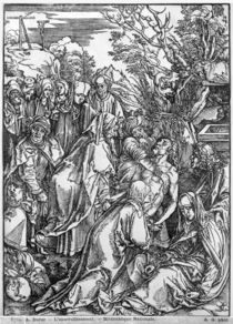 The entombment of Christ, from 'The Great Passion' series by Albrecht Dürer