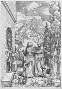 The Visitation, from the 'Life of the Virgin' series by Albrecht Dürer