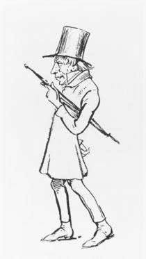 Caricature of Soren Aabye Kierkegaard von Wilhelm Marstrand