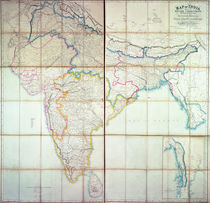 Map of India, 1857 von English School