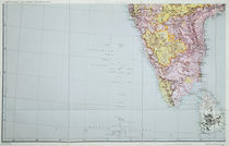 Map of Southern India, 1898 by English School
