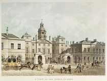 A view of the Horse Guards from Whitehall engraved by J.C Sadler by Thomas Hosmer Shepherd