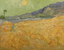 Wheatfield with Reaper, 1889 by Vincent Van Gogh