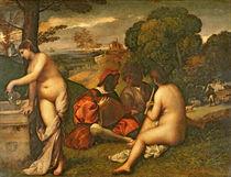 Le Concert Champetre , c.1510 by Titian