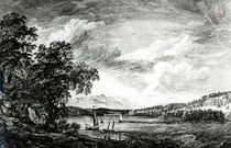 View of Hudson's River of Pakepsey by Paul Sandby