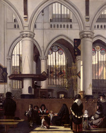 The Interior of Oude Kerk, Amsterdam, c.1660 by Emanuel de Witte