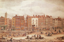 A view of High Street Southwark being the Ancient Roadway by George the Elder Scharf