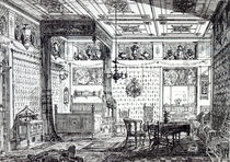A Bed Room, from 'The House-Furnisher and Decorator by English School