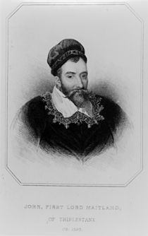 Sir John Maitland from 'Lodge's British Portraits' by English School