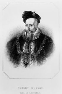 Portrait of Robert Dudley 1st Earl of Leicester von English School