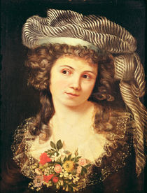 Portrait of a young woman in the style of Labille-Guiard by Gustave Courbet