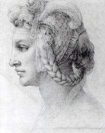 Ideal Head of a Woman, c.1525-28 by Michelangelo Buonarroti