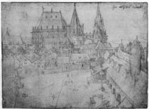 The Minster at Aachen, 1520 by Albrecht Dürer