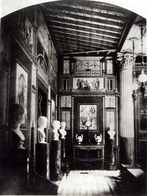 Interior of Prince Napoleon's Palais Pompeian by French Photographer
