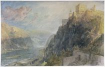 Rheinfels looking to Katz and Gourhausen von Joseph Mallord William Turner