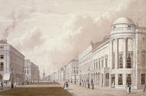 View of Regent Street, 1825 by English School