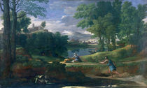 Landscape with a Man killed by a Snake by Nicolas Poussin