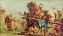 The Building of the Trojan Horse by Giandomenico Tiepolo