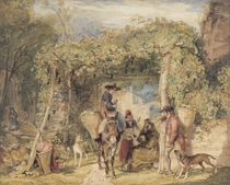 Figures and Animals in a Vineyard by John Frederick Lewis