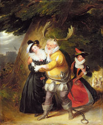 "Falstaff at Herne's oak from ""The Merry Wives of Windsor"" von James Stephanoff"