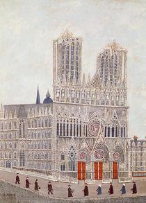 Rheims Cathedral, c.1923 by Louis Vivin