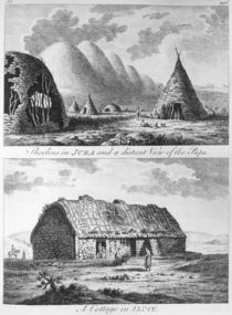 Sheelins in Jura and a distant view of the Paps and A Cottage of Islay by Thomas Pennant