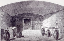 Grotta Campana at the time of its discovery in 1842-3 by George Dennis